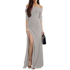 Women's High Split Maxi Long Evening Cocktail Party Formal Prom Ball Gown Dress