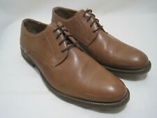 ALFANI ROSS Men's Size 10M Brown Leather Lace-Up Plain Toe Dress Shoes