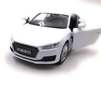 Audi Tt Compact Athlete Model Car With Desired License Plate White Scale 1:3 4