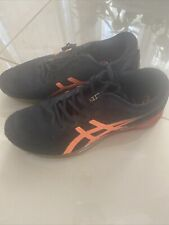 Asics Mens Black And Orange Sneakers Size 10.5