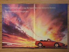 Original 1989 Mazda RX-7 Vintage Print Ad- 2 pages