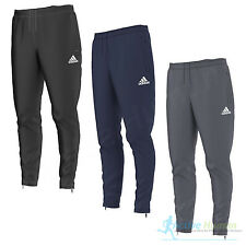 Adidas Climaproof Black Track Pants Mens Large 3 Stripe Pockets Zip Ankles Euc Easy To Repair Men's Clothing