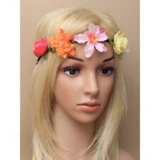 magnifique fleur floral guirlande de cheveux rose festival bohémien bandeau Fête