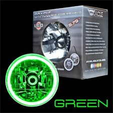 "ORACLE 5.75"" Sealed Beam Single Headlight + ORACLE Pre-Installed GREEN SMD Halo"