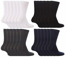 6 Pack Kid Boys Girls Back to School Socks Black,White,Grey & Navy Various Sizes