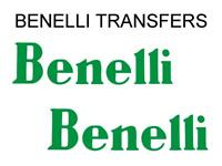 Benelli Tank Transfers and Decals Sold as a Pair Colour Gold