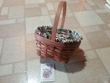 Longaberger Easter Basket with Floral Liner and Plastic Protector