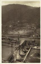 Elbe - Schleuse bei Aussig, Foto Ak von 1940
