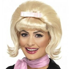 60s 60's 1960s Flicked Beehive Fancy Dress Wig in Box Blonde by Smiffys