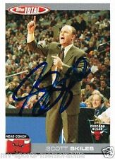 SCOTT SKILES SIGNED IN-PERSON IP 2005 TOPPS TOTAL BULLS CARD ~AUTHENTIC