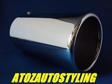 Universal Chrome Exhaust 65MM STRAIGHT Tail Pipe Trim