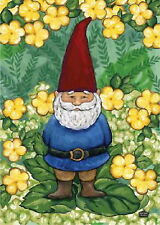 New Toland Garden Size Flag Garden Gnome 12.5 X 18 Great Color & Design
