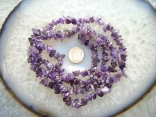 "Natural Genuine Amethyst Chips Beads 35.5"" Strand 5 ~ 10mm Chip Beads"