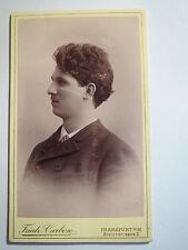 Frankfurt a. M. - 1890-Reimar poppe da giovane-Portrait/CDV