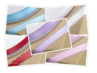 Picot Edge Ribbon Satin Width 12mm Choice of 5 Colours