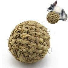 Pet Chew Toy Natural Grass Ball with Bell for Rabbit Hamster Guinea Pig Too