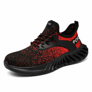 Men Sneakers Indestructible Steel Toe Soft Anti-piercing Work Boots Safety Shoes