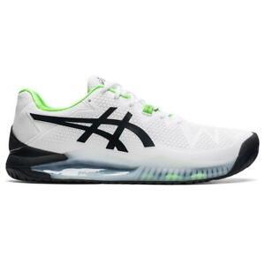 Asics Gel Resolution 8 (2E) Wide Men's Tennis Shoe (White/Green)  - Auth Dealer
