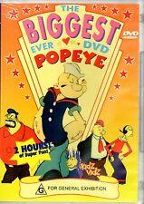 The Biggest Ever DVD Popeye REGION FREE - BRAND NEW SEALED - FREE POST!