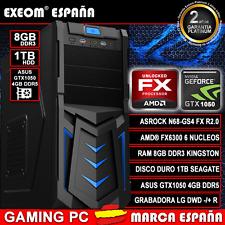 Ordenador Gaming Pc AMD FX6300 X6 8GB DDR3 1TB Asus GTX1050 4GB DDR5 Sobremesa