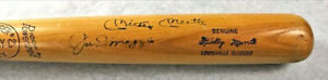 Mickey Mantle and Joe DiMaggio BOTH signed H&B Louisville Slugger Bat AUTOGRAPH