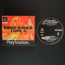RIDGE RACER 4 PlayStation UK PAL English・♔・BLOCKBUSTER RENTAL complete NAMCO PS1
