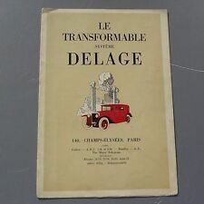 ✇ original delage le transformable folleto 40er-años francés