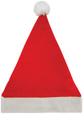 12 Christmas Santa Hats, Xmas Party Father Christmas Novelty Fancy Dress Hat