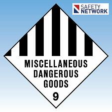 Miscellaneous Dangerous Goods 9  Sign Safety Metal 270x270mm