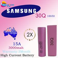 2X Samsung INR 18650 - 30Q 3000mAh 15A HIGH Drain 18650 Lithium li-ion battery