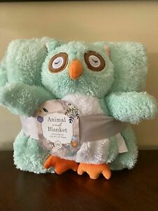Owl Animal And Blanket 2 Piece Gift Set With 40x50 Throw