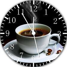 "A Cup of Coffee wall Clock 10"" will be nice Gift and Room wall Decor Y57"