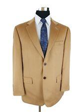Tasso Elba Mens 40/42R Blazer Sport Coat Cashmere Jacket Two Button Tan Beige