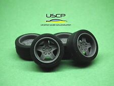 1/24 wheels 16 inch Banded Steels Opel with tires for Tamiya Aoshima Hasegawa