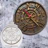 Clock, Antique Compass Cake Sugar Paste Mould Cup Cake Topper Decoupage M270