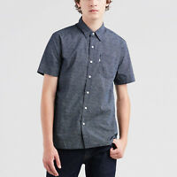 Levi's Short Sleeve Sunset Dark Blue One Pocket Shirt Size S M XXL