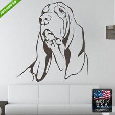 Wall Decals Mural Sticker Beautyfull Cute Dog Basset Kids Animals Bedroom (Z185)