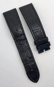 Authentic Zenith 21mm x 18mm Dark Brown Alligator Rubber Strap Band OEM 2118-494