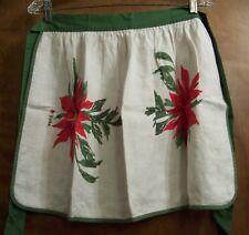 Vera Neumann Linen Half Arpon Christmas Poinsettia Vintage Ladybug