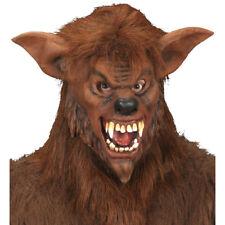 WERWOLF LATEX MASKE & HAAR # Halloween Karneval Monster Wolf Kostüm Party 8340W