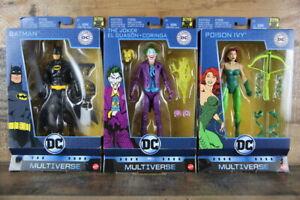 DC Multiverse Batman 80 Years Lot of 3: BATMAN, THE JOKER, & POISON IVY Box Wear