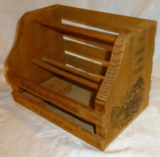Vtg Watkins Quality Products Spice/Extracts Display Rack Original Wood Counter