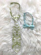 Toddler Boy's Spring Linen Adjustable Necktie and Bowtie