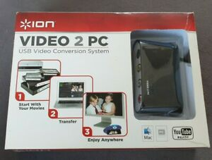 ION Video 2 PC USB Video Conversion System Boxed VHS Camcorder to PC UNUSED