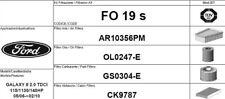 FO19S KIT 4 FILTRI TAGLIANDO FORD GALAXY 2.0 TDCI 103 KW 140 CV FINO AL 02/2010