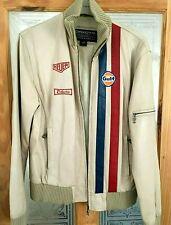 Men's Vintage Le Mans Leather Jacket DAKOTA ORIGINAL Gulf Blouson Jacky Lckx