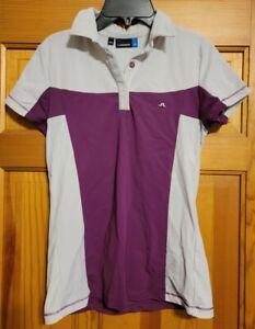 J.Lindeberg Sport Womens Golf Tennis Polo Shirt Purple Size Medium M
