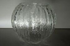 TIMO SARPANEVA ICE GLASS VASE FINLAND ITTALA SCANDINAVIAN ART GLASS