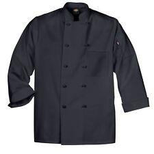 Dickies Chef Jacket ( XS ) DCP109 BLK Cloth Knot Button Black Uniform Coat New