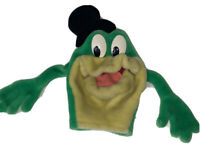 Vtg Applause Michigan J. Frog Hand Puppet Warner Bros Frog Green
